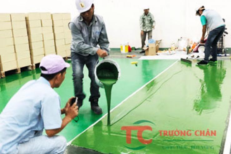 Quy trình thi công sơn nền sơn sàn epoxy